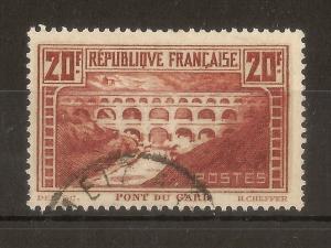 France 1931 20fr Pout Du Gard SG475b Fine Used Cat£60