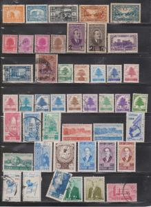 LEBANON - Collection Of Mint Hinged And Used Stamps - Good Value - CV $92.00