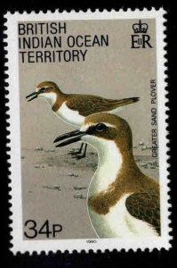 British Indian Ocean Territory BIOT Scott 98 MH* Plover Bird stamp