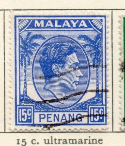 Malaya Penang 1949-52 Early Issue Fine Used 15c. 029254