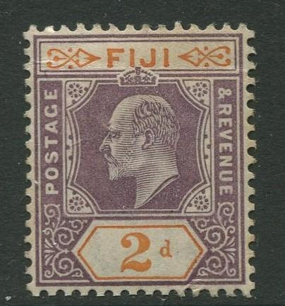 Fiji - Scott 61 - KEVII - Definitive - 1903 - MVLH - Single 2d - Stamp