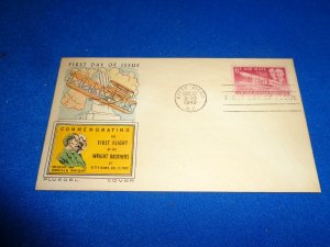 FLEUGEL MULTI COLORED CACHET FDC:  US SCOTT# C45