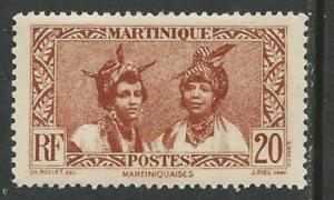 Martinique # 140 Local Women 20c  (1) VF Unused