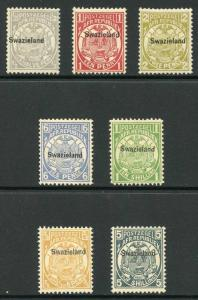 Swaziland SG1/8 Basic set of 7 Fresh M/Mint