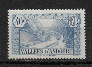 French Andorra 1932, Scott # 33, 40c,VF MNH**OG (FR-1)