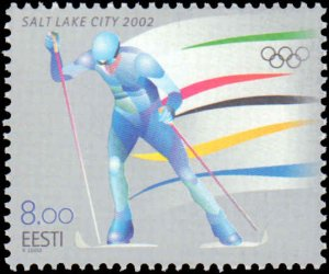 Estonia #432, Complete Set, 2001, Sports, Olympics, Never Hinged