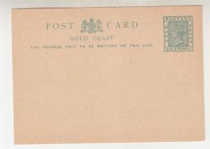 GOLD COAST, Postal Card, c1890 QV 1/2d. Green, unused.