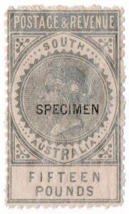 (I.B) Australia Postal : South Australia £15 (SG 207)