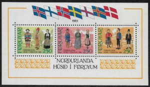 Faroe Is. 101 MNH S/Sheet - Traditonal Costumes