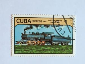Cuba – 1984 – Single Train Stamp – SC# 2708 – Used