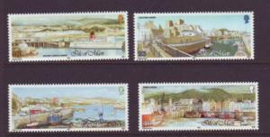 Isle of Man Sc 519-22 1992 Manx Harbours stamp set mint NH
