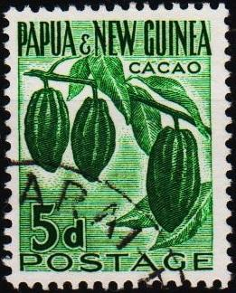 Papua New Guinea.1952 5d S.G.19 Fine Used