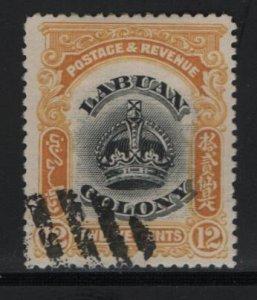 LABUAN, 104, USED, 1902-1903, CROWN