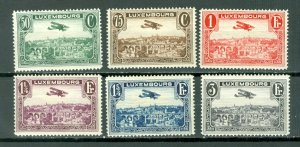 LUXEMBOURG AIR #C1-C6..SET...MINT...$3.85