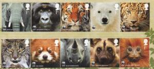 Great Britain Sc 2883-92 2011 WWF stamp set mint NH
