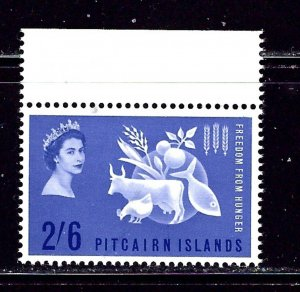Pitcairn Is 35 MNH 1963 Freedom from Hunger