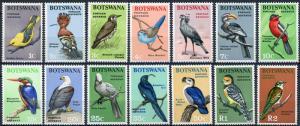 Botswana #19-32 Birds MNH