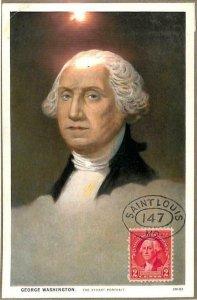 90067 - USA - Postal History - MAXIMUM CARD - GEORGE WASHINGTON Politics War