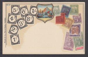 Zieher #58 unused PPC. Stamps of Trinidad, embossed, fresh, VF