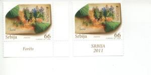 2011 Serbia Europa Forests (2)  (Scott 544-45) MNH