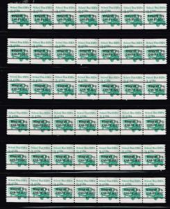 US STAMP # 2123a – 1985 3.4c School Bus, precancel, coil STAMPS LOT
