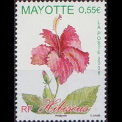 MAYOTTE 2008 - Scott# 244 Hibiscus Flower Set of 1 NH