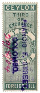 (I.B) Ceylon Revenue : Foreign Bill 10c (Third)