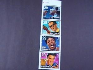 U.S.# 2731,2735-2737(2737b)-MINT/NH-BOOKLET PANE OF 4--AMERICAN MUSIC--1993
