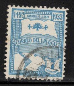 Uruguay Scott 432 Used map flagl stamp