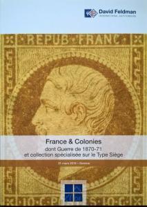 Auction Catalog FRANCE GUERRE 1870-1 Ballon & Collection Spécialisée TYPE SIÈGE