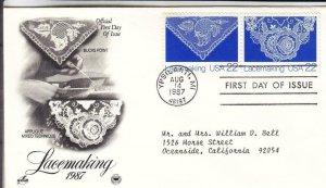 1987, Lacemaking-Bucks Point, Applique Mixed, Artcraft/PCS, FDC (E8712)