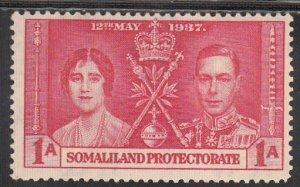 Somaliland, Sc 81, MNH, 1937 Coronation of Queen Elizabeth
