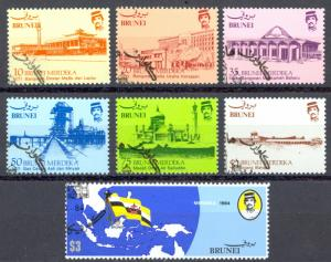 Brunei Sc# 304-310 SG# 340/6 Used 1984 Historical Places & Events