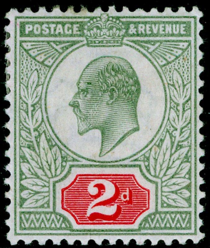 SG225 SPEC M11(1), 2d yellowish green & carmine-red, M MINT. Cat £70.