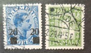 DENMARK Scott 165 177 Used Stamp Lot T259