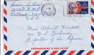 1965, Portland, OR to US Embassy, South Africa, See Remark (27859)