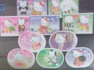 Japan Scott Cat # 3341a-j (2011) Hello Kitty & Dear Daniel