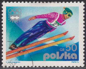 Poland 2137 USED 1976 Olympic Ski Jump