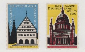 Germany - Lot of 2 Stamps Promoting German Re-Unification NG