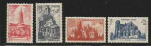 FRANCE B213-B216 MINT HINGED CHURCHES 1947 NOT COMPLETE SET