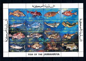 [49792] Libya 1983 Marine life Fish MNH Sheet