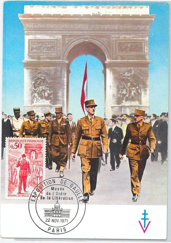59152 - FRANCE - POSTAL HISTORY: MAXIMUM CARD 1964 - ARCHITECTURE De Gaulle