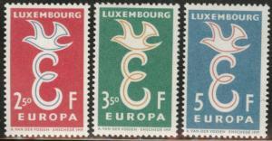Luxembourg Scott 341-343 MNH** 1958 Europa stamp set