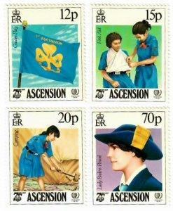 Ascension 377-80 MNH Set (SCV $4.00)