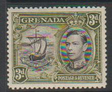 Grenada  GVI  SG 158b perf 12½  Light mounted mint