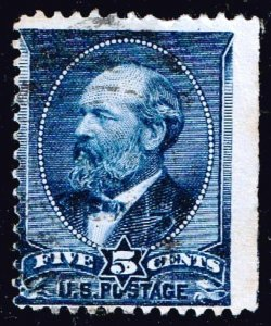 US STAMP  #USA STAMP # 216 5c indigo Series Of 1888 USED RIGHT IMPERF STAMP