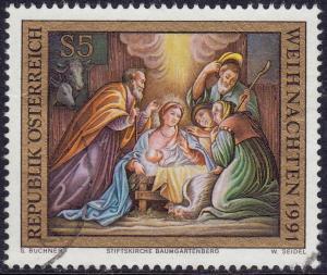 Austria - 1991- Scott #1553 - used - Christmas