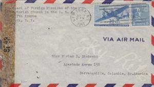 1943, New York, NY to Barranquilla, Columbia, See Remark (C2272)