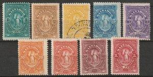 El Salvador 1890 Sc 38-46 set most MH* some disturbed gum