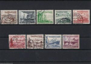 GERMAN 1937 WINTER RELIEF FUND , SET OF NINE USED . CAT £30.   REF R163